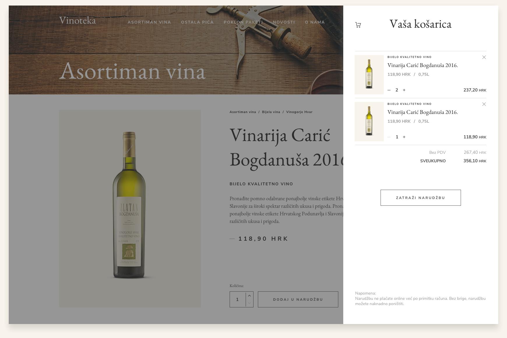 display design for purchase steps web shop wine shop